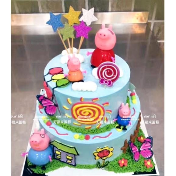 购物车收藏微信扫码购买                  小猪 双层卡通创意蛋糕