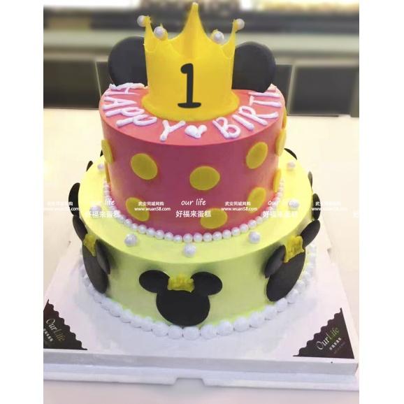 米奇双层 创意蛋糕