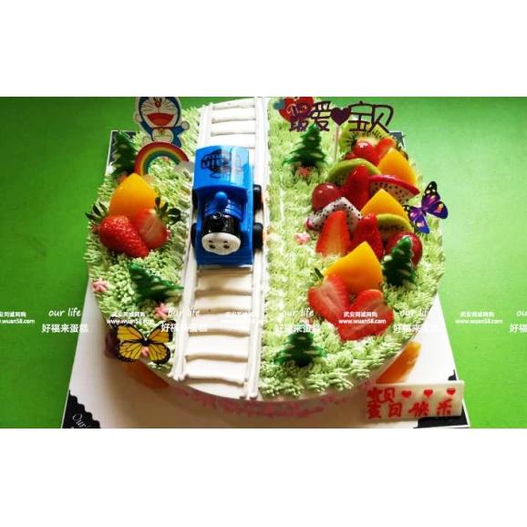 托马斯小火车找水果 汽车创意蛋糕